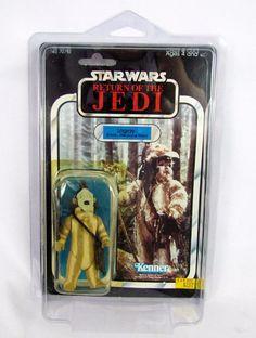 Vtg 1983 Kenner Star Wars LOGRAY Ewok Medicine Man MOC ROTJ 65 Back Offerless #Kenner