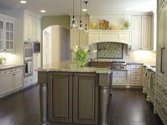 Two Pieces Wrought Iron Bar Stools White Kitchens Dark Floors White Wooden…