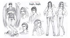 "I've been reading this one book named ""Hush Hush"" writen by Becca Fitzpatrick, and I've started the second one ""Crescendo"" some days ago. Nora and Patch -HushHush- sketches Saga Hush Hush, Divergent Fandom, Disney Princess Aurora, Ship Drawing, Fanart, Fangirl Problems, Disney Sketches, Bts Drawings, Disney Fan Art"