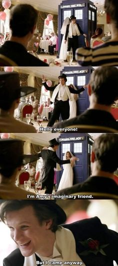 I REMEMBER AND YOU ARE LATE FOR MY WEDDING! And rorys like, how could we forget the doctor?