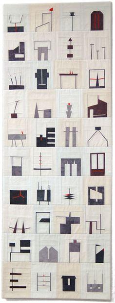 "erin wilson, Shape Study #3, 18"" x 48"", 2011"