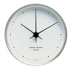 Georg Jensen Henning Koppel Klocka 22 cm Vit/Stål - danskdesign.nu