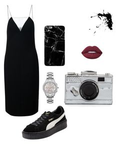 """""""Untitled #69"""" by buba-gohar on Polyvore featuring Alexander Wang, Puma, Kate Spade, Lime Crime and Karl Lagerfeld"""