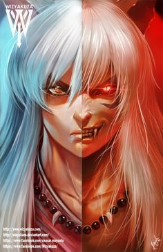 Cosplay Anime Inuyasha Split - x Museum Quality 80 lb. Manga Anime, Fanarts Anime, I Love Anime, All Anime, Anime Guys, Anime Stuff, Cosplay Anime, Wizyakuza Anime, Badass Anime