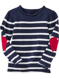 Striped Elbow-Patch Sweaters for Baby #TLSFFavthings#PinParty ...