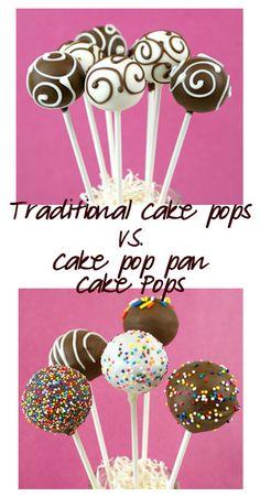 Traditional Cake Pops vs. Cake-pop-pan Cake Pops