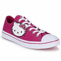 The Hello Kitty Converse not only for children but also for woman.