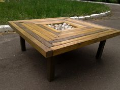 Square coffee tablereclaimed table wood от Paradiseoffurniture
