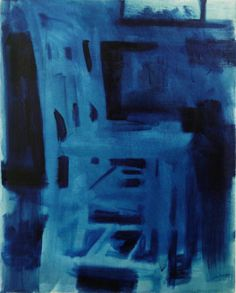 Blue Chairs #1 oil on canvas 40x51cm