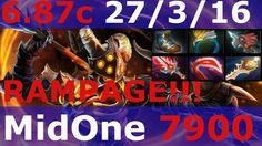 Dota 2 patch 6.87 Clinkz Fnatic MidOne RAMPEGE + rapier + Bloodthorn + H...