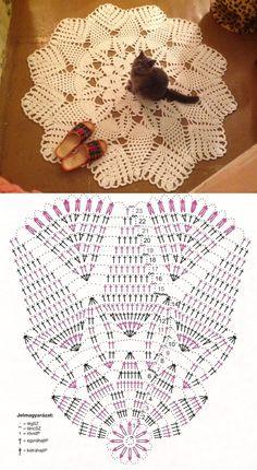 Breathtaking Crochet So You Can Comprehend Patterns Ideas. Stupefying Crochet So You Can Comprehend Patterns Ideas. Crochet Mat, Crochet Doily Diagram, Crochet Carpet, Crochet Mandala Pattern, Crochet Dollies, Crochet Flower Tutorial, Crochet Home, Thread Crochet, Filet Crochet