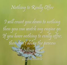 Nothing to Really Offer - #WriteShortWed #quote