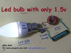 ac led bulb with 1.5v - YouTube