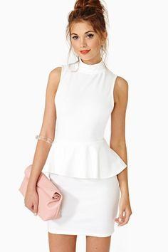 Cool Flash Peplum Dress