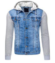 Pánska modrá džínsová bunda