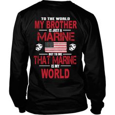 To the world my brother is a marine - Back