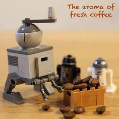 MILL DROID (hand powered)  #legomoc #lego #coffeemill by dreepycark