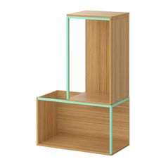 """IKEA PS 2014 Storage combination with top - bamboo/light green - IKEA Size 13 3/4/23 5/8x13 3/4/37 3/8"""" 79.00"""