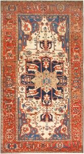 Antique Persian Serapi Rug 46563 Detail/Large View