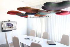 Panneau acoustique en textile / mural / pour plafond / double face HANG OVER Götessons