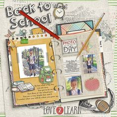 kimeric kreations: Back to School, new this week - a cluster freebie and the September Fan Template!