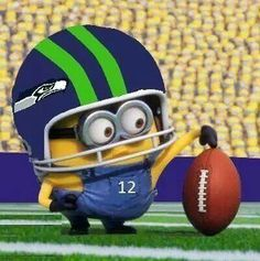 See? Even minions are Seahawks fans.