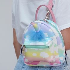 So Cutieeeeee. Cute Mini Backpacks, Stylish Backpacks, Grafea Backpack, Backpack Bags, Mode Kawaii, Unicorn Fashion, Girls Bags, Cute Bags, Beautiful Bags