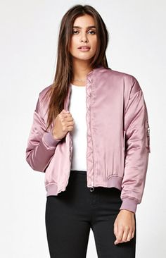 Shine on in this beautifully enhanced bomber jacket from Kendall & Kylie…