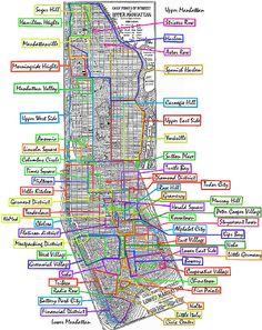 Overlapping Manhattan Neighborhoods by Zach Seward, via Flickr