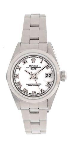 ROLEX LADIES STEEL DATEJUST WATCH, 2000 MODEL, WHITE ROMAN DIAL & STEEL BEZEL #Rolex #LuxuryDressStyles