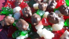 Christmas Chocolate Covered Gummy Bears 1lb by SlipsCreativeSweets, $12.50
