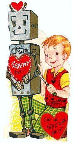 Vintage Valentine: A Valentine for Susan Calvin by pageofbats, via Flickr