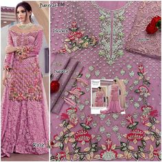 Order #Rose Classic VOl 2 Butterfly NET with Embroidery work suite₹1655 on WhatsApp number +919619659727 or ArtistryC.in