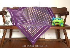 ABC Knitting Patterns - Forest Meadows Baby Blanket