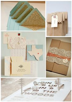 These are some fantastic stationary ideas. We love the Texas one, which could be lots of fun for a destination wedding invite.