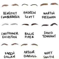 Famous eyebrows… I AM OUTRAGED! How are	 Peter Gallagher's eyebrows NOT on this list.Peter Gallagher's eyebrows should get top billing over Peter Gallagher.... And where is Brooke Shields for that matter . Those two ARE their eyebrows!