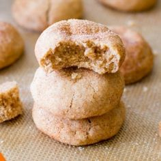 Thick Snickerdoodle Cookies recipe. My sis brought me a couple of these after baking with her kids today. Oh. My. Gosh. To die for!! Will never go back to the [flat] ones again.