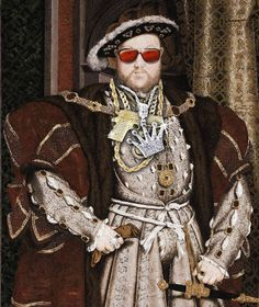 Hans Holbein der Jüngere, Porträt Heinrichs VIII. aka King Bling (um 1536) – diverse Hip Hop Accessoires