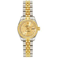 Ladies ROLEX Oyster Watch Perpetual Datejust Two-Tone