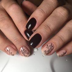 Modele unghii de toamna 2019-2020 - idei manichiura gel poze Nailed It, Chic Nails, I Feel Pretty, Nail Polish Colors, Nail Arts, Hair Makeup, Nail Designs, Floral, Neutral