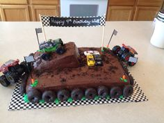 Monster truck cake More