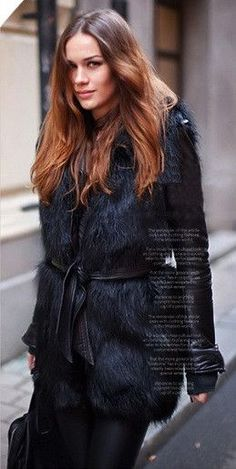 I love this Faux Fur Wrap Coat