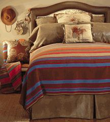 Western bedding goes beyond cozy and comfy by adding visual interest as well as enhancing the ambiance of your bedroom. Nursery Bedding Sets Girl, Pink Bedding, Luxury Bedding, Comforter, Southwestern Bedding, Pink Bed Sheets, Cowgirl Bedroom, Window Bed, Window Seats