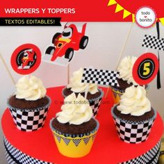 Cupcakes wrappers para imprimir - Imagui Porta Cupcake, Best Part Of Me, Hot Wheels, Birthday, Desserts, Food, Car Cakes, Jr, Valentino