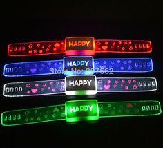 Günstige Freies verschiffen 48 teile/los 21*2,1 cm Blinkendes Armband Armband mit glücklich Led leuchten armband für geburtstag dekorationen kinder, Kaufe Qualität Party Favors direkt vom China-Lieferanten: null Dud premium led blinklicht armbandspezifikation:1. paket: 1 stücke/opp beutel2. größe: 21*2,1 CM3. farbe der