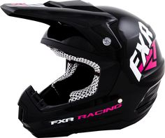 FXR Racing - 2015 Snowmobile Apparel - Torque Helmet - Black/Fuchsia