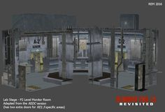 Lab - P2 Monitor Room RE1.5 style (working model) by RE15REvisited.deviantart.com on @DeviantArt