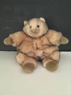 "Incredible Petables Fat Cat Plush 12"" Stuffed Animal Tan Brown Kitty #IncrediblePetables"
