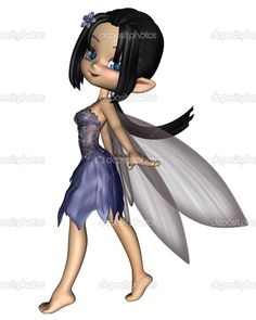 Picture of Cute toon fairy in a blue flower dress with gossamer wings, digitally rendered illustration stock photo, images and stock photography. Blue Flower Dress, Flower Dresses, Blue Flowers, Cartoon Girl Images, Girl Cartoon, Gossamer Wings, Fairy Pictures, Fairy Princesses, Henna Patterns