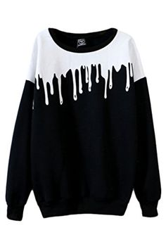 Tasty Milk Color Block Sweatshirt